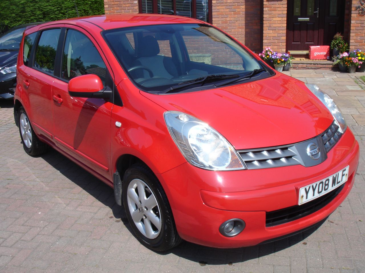 Nissan Note 1.4 Acenta S 5dr MPV Petrol Red at Level Pitch Selby