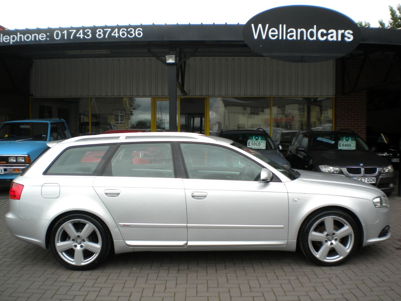 Audi A4 2.0 TDi Avant S Line 5dr, Navigation, 18`Alloys, Towpack, CD Changer Estate Diesel Silver at Welland Cars Shrewsbury