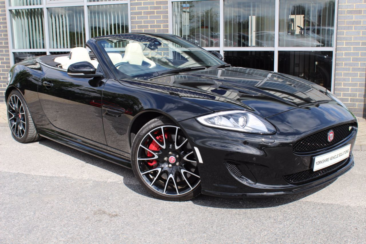 Jaguar XK 5.0 Supercharged V8 Dynamic R 2dr Auto Convertible Petrol Black