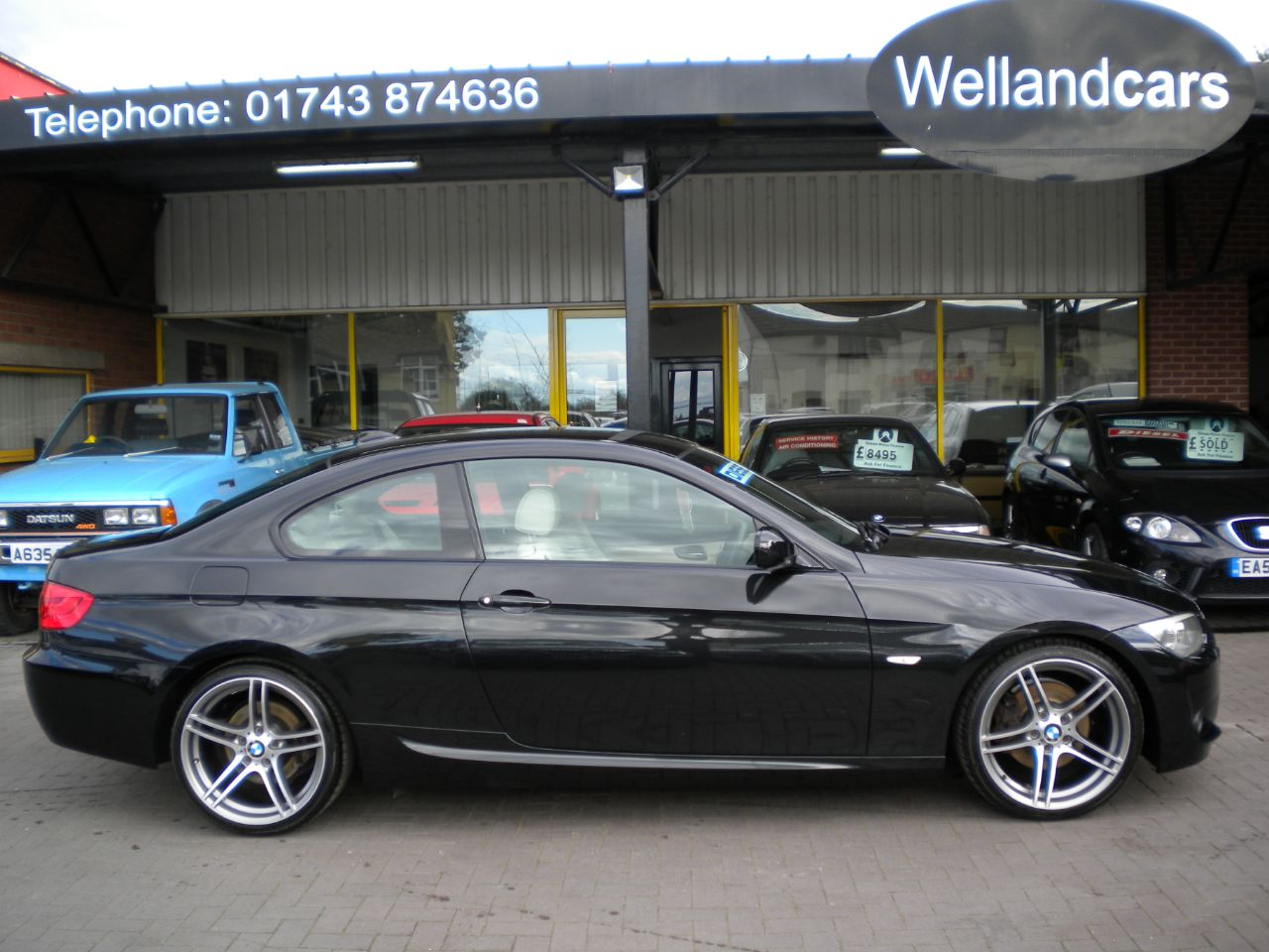BMW 3 Series 2.0 320d M Sport 2dr, F/BMW/S/H,19`Alloys,Leather, Xenons# 15 MONTH WARRANTY INCLUDED Coupe Diesel Sapphire Black at Welland Cars Shrewsbury