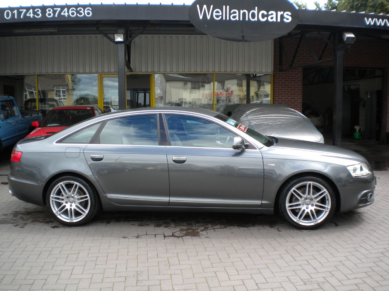 Audi A6 2.0 TDI 170 Le Mans, F/Audi/SH,Nav,19`Alloys,Leather#15 MONTHS PREMIUM PARTS AND LABOUR WARRANTY Saloon Diesel Grey at Welland Cars Shrewsbury