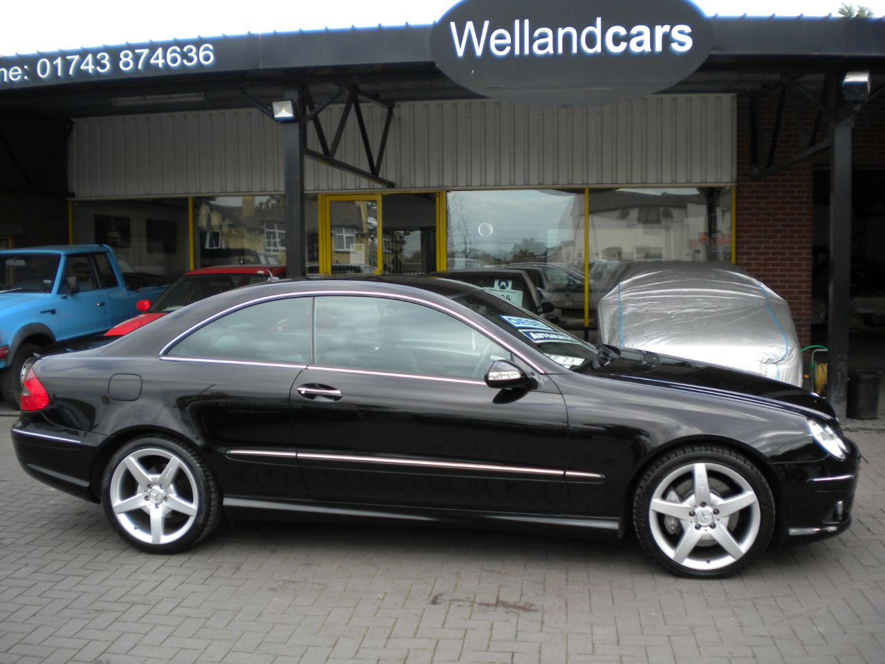 Mercedes-Benz CLK 2.1 220 CDi Sport 2dr Auto,F/S/H,Nav,18`AMG Alloys,Leather 15 MONTH PARTS AND LABOUR WARRANTY INCLUDED Coupe Diesel Black at Welland Cars Shrewsbury