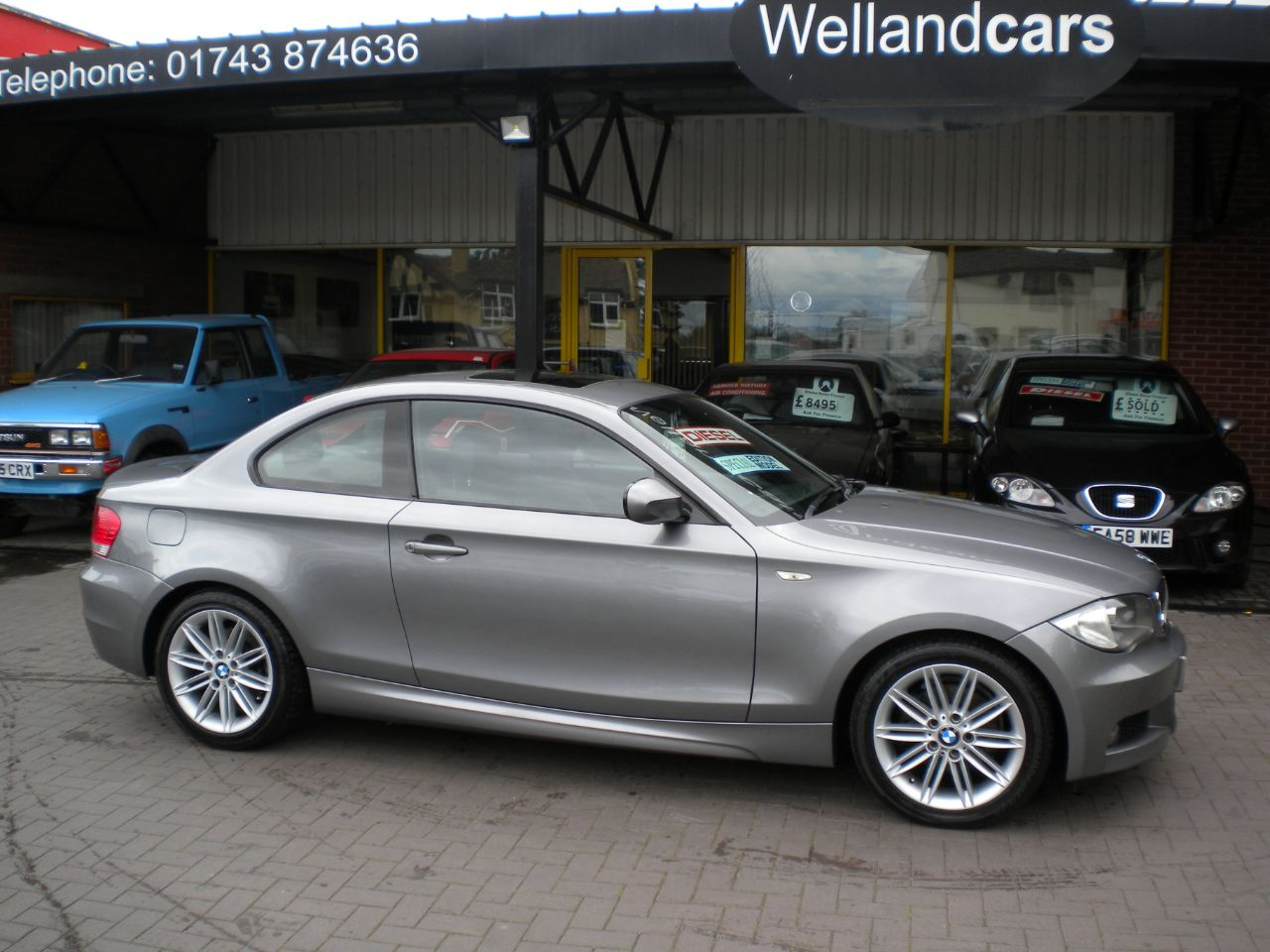 BMW 1 Series 2.0 120d M Sport 2dr Coupe Diesel Grey at Welland Cars Shrewsbury