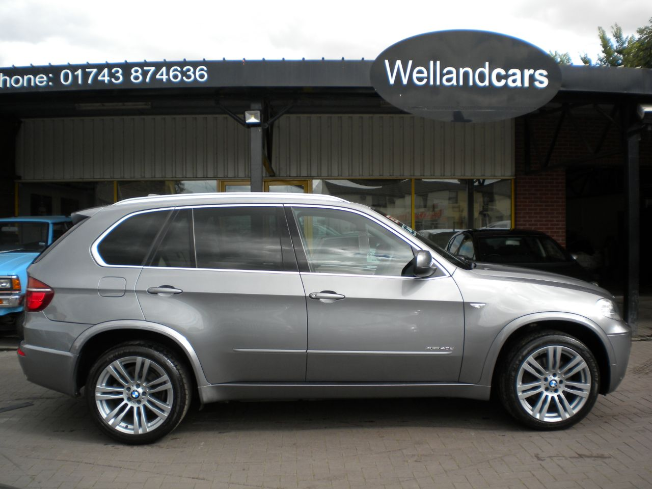 BMW X5 3.0 xDrive40d M Sport 5dr Auto, F/S/H Electric,Glass Panoramic Sun Roof - Big Spec Estate Diesel Grey at Welland Cars Shrewsbury