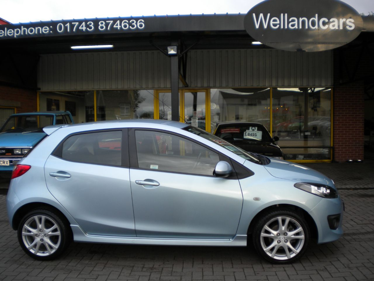 Mazda 2 1.6D Sport 5dr Manual, F/S/H, A/C, Alloys, 15 MONTH PARTS AND LABOUR WARRANTY INCLUDED Hatchback Diesel Metallic Sky Blue at Welland Cars Shrewsbury