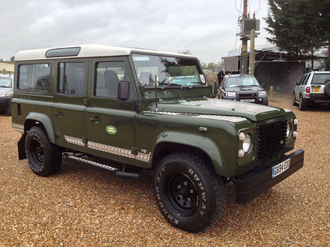 Land Rover Defender 110 3.5 V8 County Station Wagon LPG IMMACULATE CONDITION Four Wheel Drive Petrol Green
