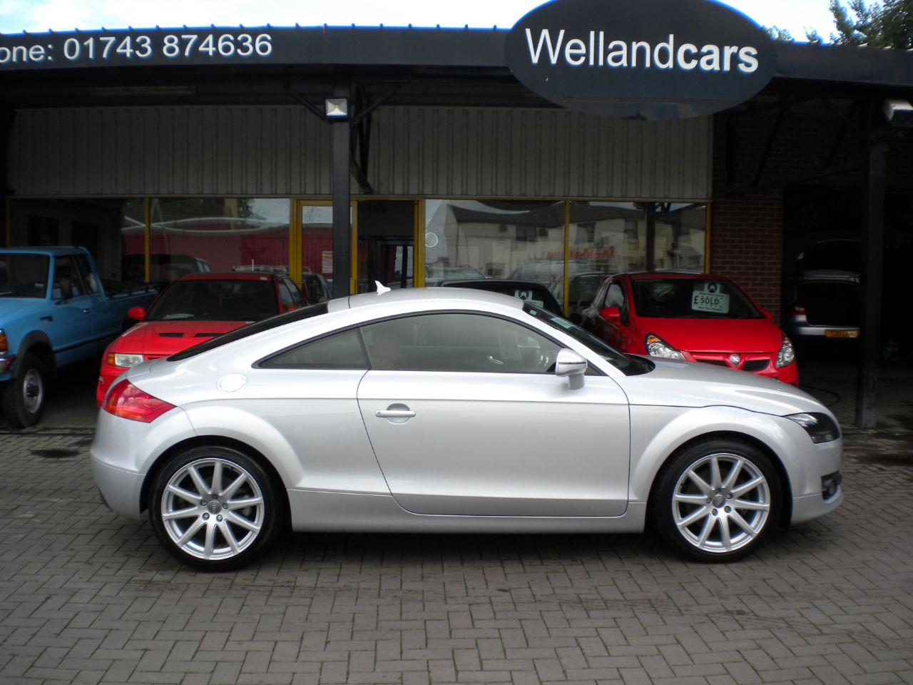 Audi TT 2.0T FSI 2dr Manual,F/Audi/S/H,18`Alloys,Leather,B/tooth 15 MONTH PARTS AND LABOUR WARRANTY INCLUDED Coupe Petrol Silver at Welland Cars Shrewsbury