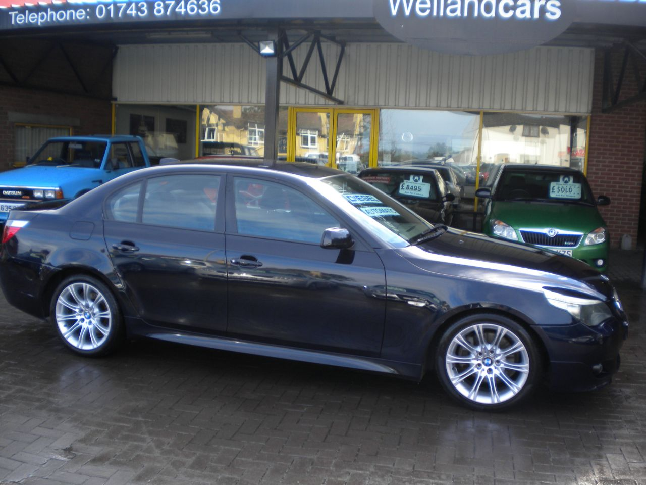 BMW 5 Series 3.0 530d Sport 4dr Auto, Leather, F/S/H,18`Alloys, 15 MONTH PARTS AND LABOUR WARRANTY INCLUDED Saloon Diesel Black at Welland Cars Shrewsbury