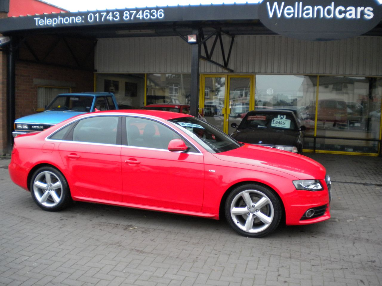 Audi A4 2.0 TDI 170 S Line 4dr, Full Audi History, Leather,  # 15 MONTH PARTS AND LABOUR WARRANTY INCLUDED # Saloon Diesel Red at Welland Cars Shrewsbury