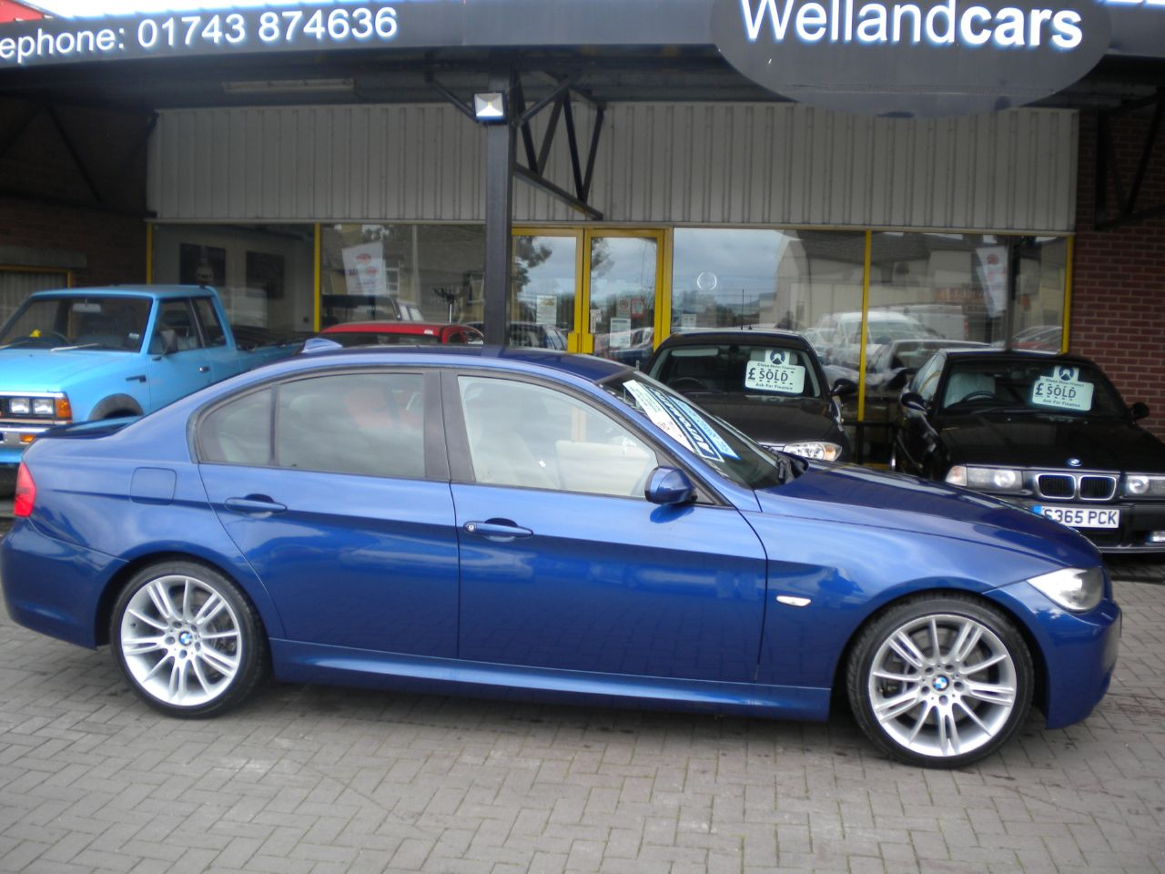 BMW 3 Series 3.0 330d M Sport 4dr Auto/Tip,F/S/H,Nav,Full Leather,15 MONTH PARTS AND LABOUR WARRANTY INCLUDED Saloon Diesel Blue at Welland Cars Shrewsbury