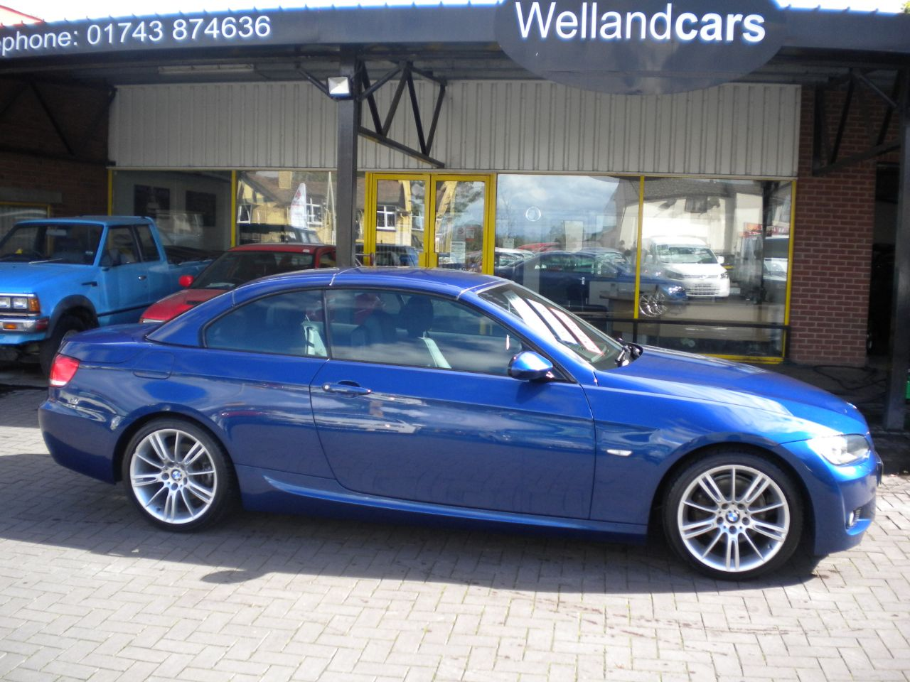 BMW 3 Series 2.0 320d M Sport 2dr, Diesel, 1 Owner, F/BMW/S/H # 15 MONTH WARRANTY INCLUDED Convertible Diesel Le Mans Blue at Welland Cars Shrewsbury