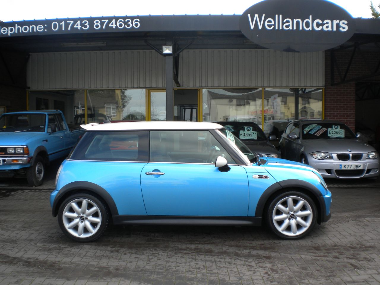 Mini Hatchback 1.6 Cooper S (Chili) 3dr Supercharged,Leather,Nav,F/S/H,15 MONTH PARTS AND LABOUR WARRANTY INCLUDED Hatchback Petrol Electric Blue Metallic at Welland Cars Shrewsbury