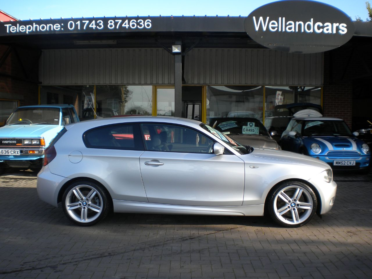 BMW 1 Series 2.0 123d M Sport 3dr 6 Speed Manual,Low Miles,F/S/H,Leather # 15 MONTH WARRANTY INCLUDED Hatchback Diesel Silver at Welland Cars Shrewsbury