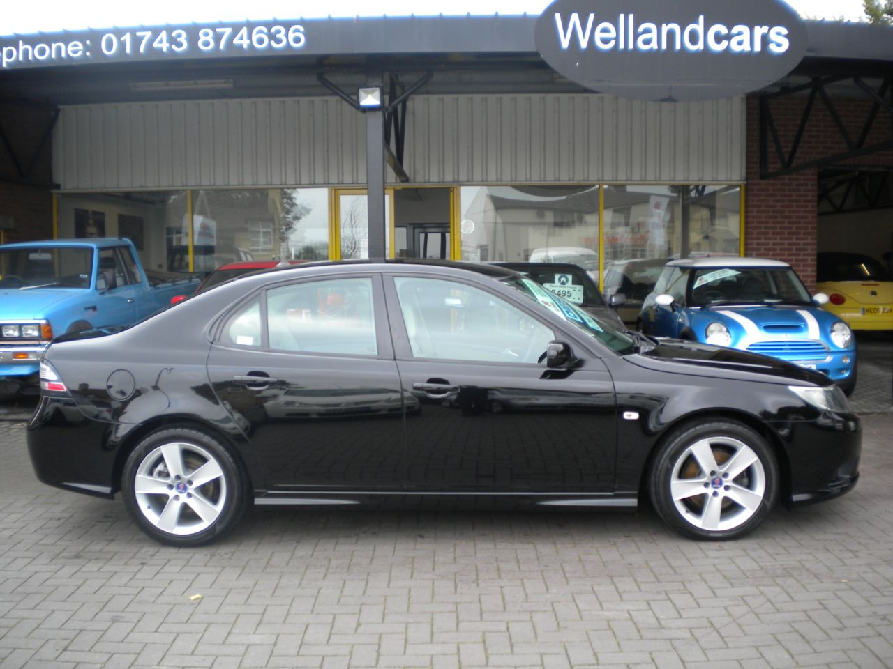 Saab 9-3 1.9 TiD 150-Turbo Edition 4dr Manual Diesel,F/S/H,1 Owner,Leather,15 MONTH PARTS AND LABOUR WARRANTY Saloon Diesel Black at Welland Cars Shrewsbury