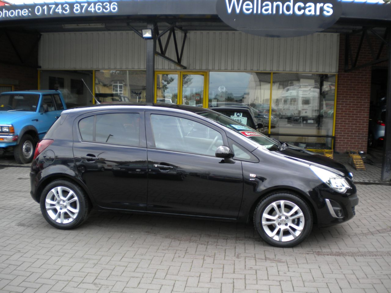 Vauxhall Corsa 1.3 CDTi ecoFLEX SXi 5dr [AC] F/S/H, Low Miles,15 MONTH PARTS AND LABOUR WARRANTY INCLUDED Hatchback Diesel Black at Welland Cars Shrewsbury
