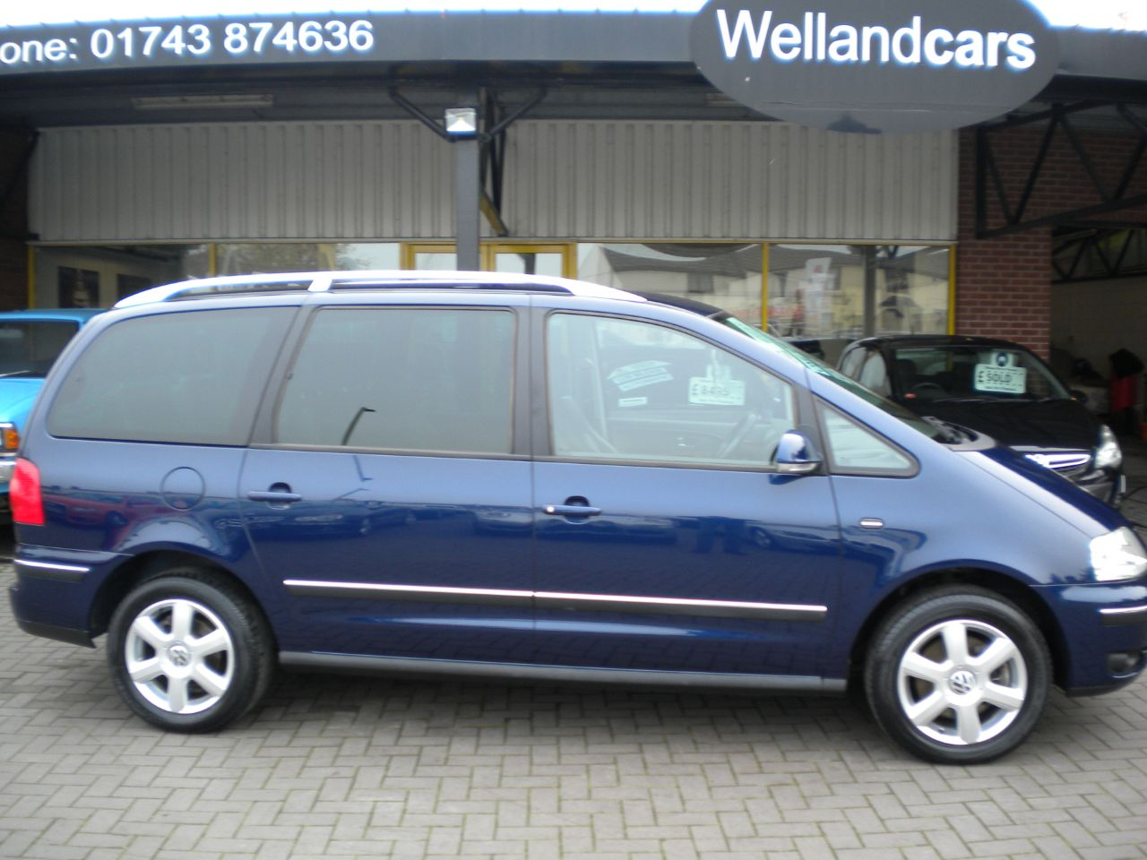 Volkswagen Sharan 1.9 TDI Carat 130BHP 5dr 7 Seats, F/S/H, 1 Owner  15 MONTH PARTS AND LABOUR WARRANTY INCLUDED MPV Diesel Metallic Blue at Welland Cars Shrewsbury