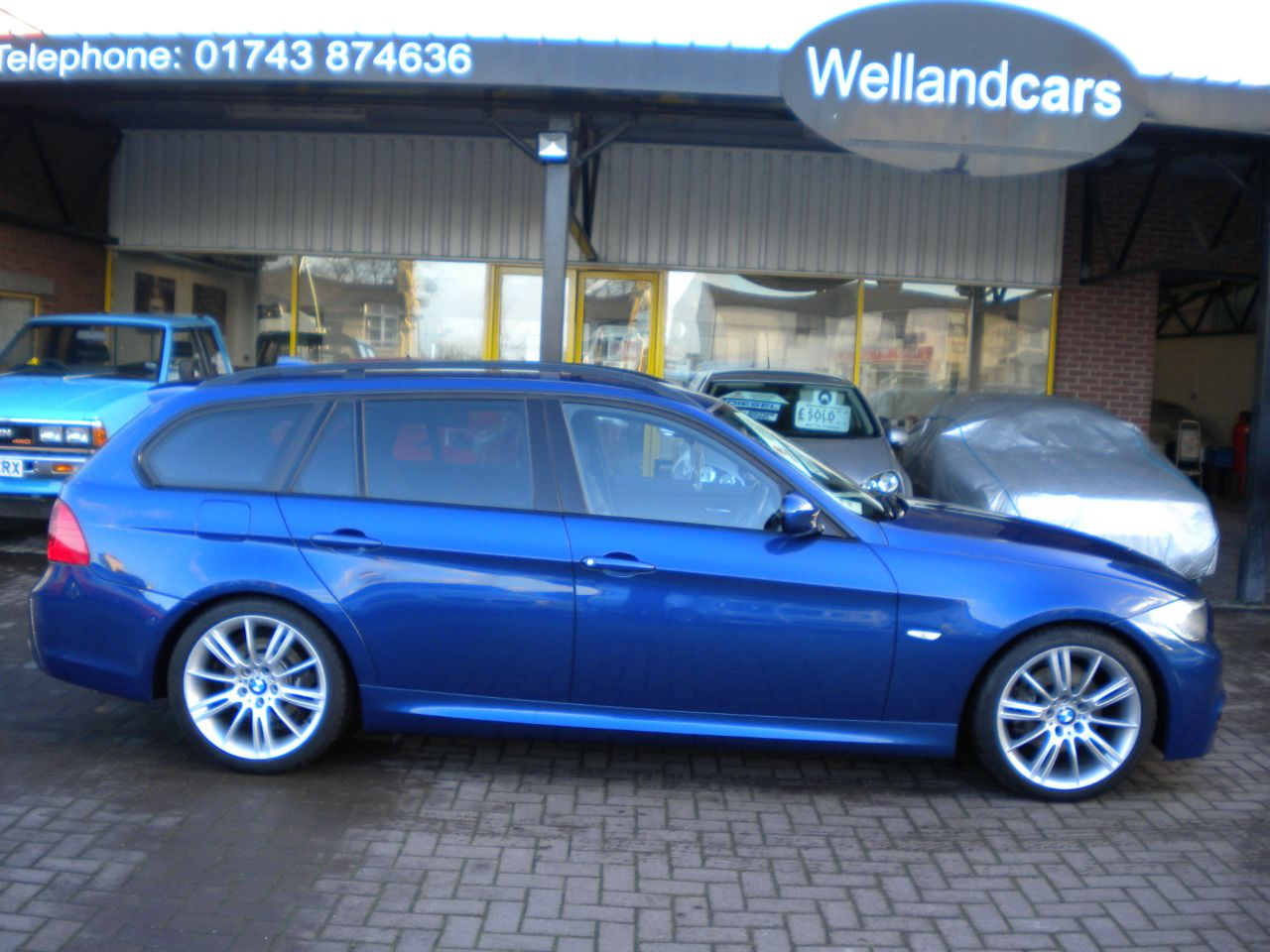 BMW 3 Series 2.0 320d M Sport 5dr Full BMW Service History,15 MONTH PARTS AND LABOUR WARRANTY INCLUDED Estate Diesel Le Mans Blue at Welland Cars Shrewsbury