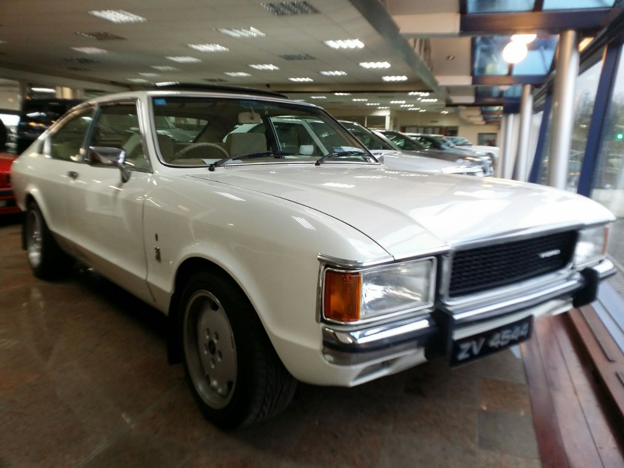 Ford Granada 3.0 1 Coupe Petrol white at Hare Motors Halifax