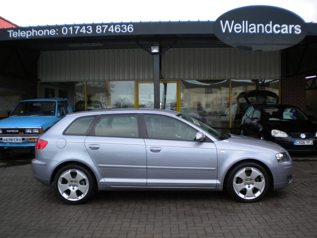 Audi A3 2.0 TDi Sport 5dr Sportback 6 Speed Manual, F/S/H, 1 Owner #15 MONTH WARRANTY INCLUDED Hatchback Diesel Silver at Welland Cars Shrewsbury