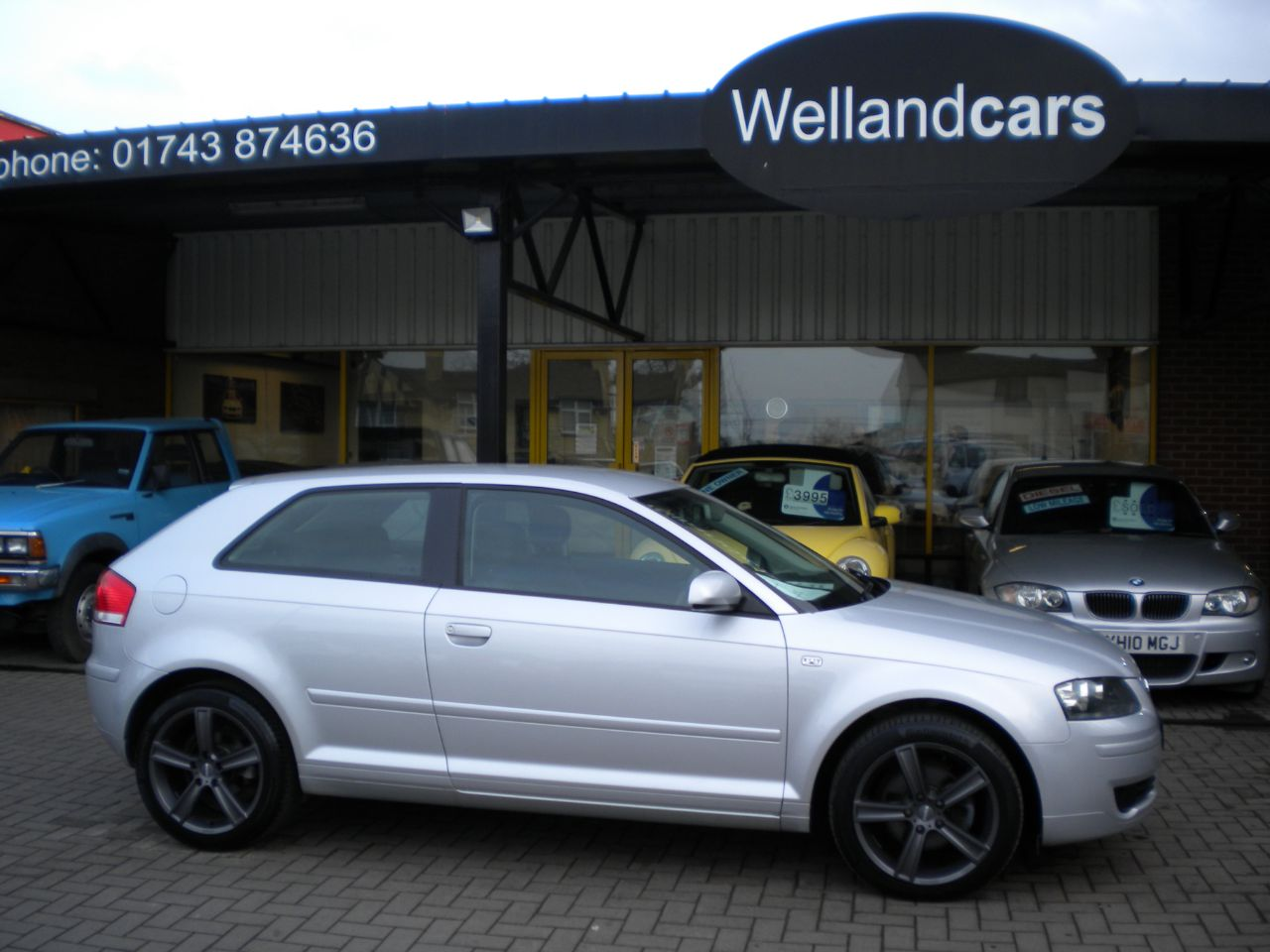 Audi A3 2.0 TDi SE 3dr 6 Speed, F/AUDI/SH,17`Alloys# 15 MONTH WARRANTY INCLUDED Hatchback Diesel Silver at Welland Cars Shrewsbury