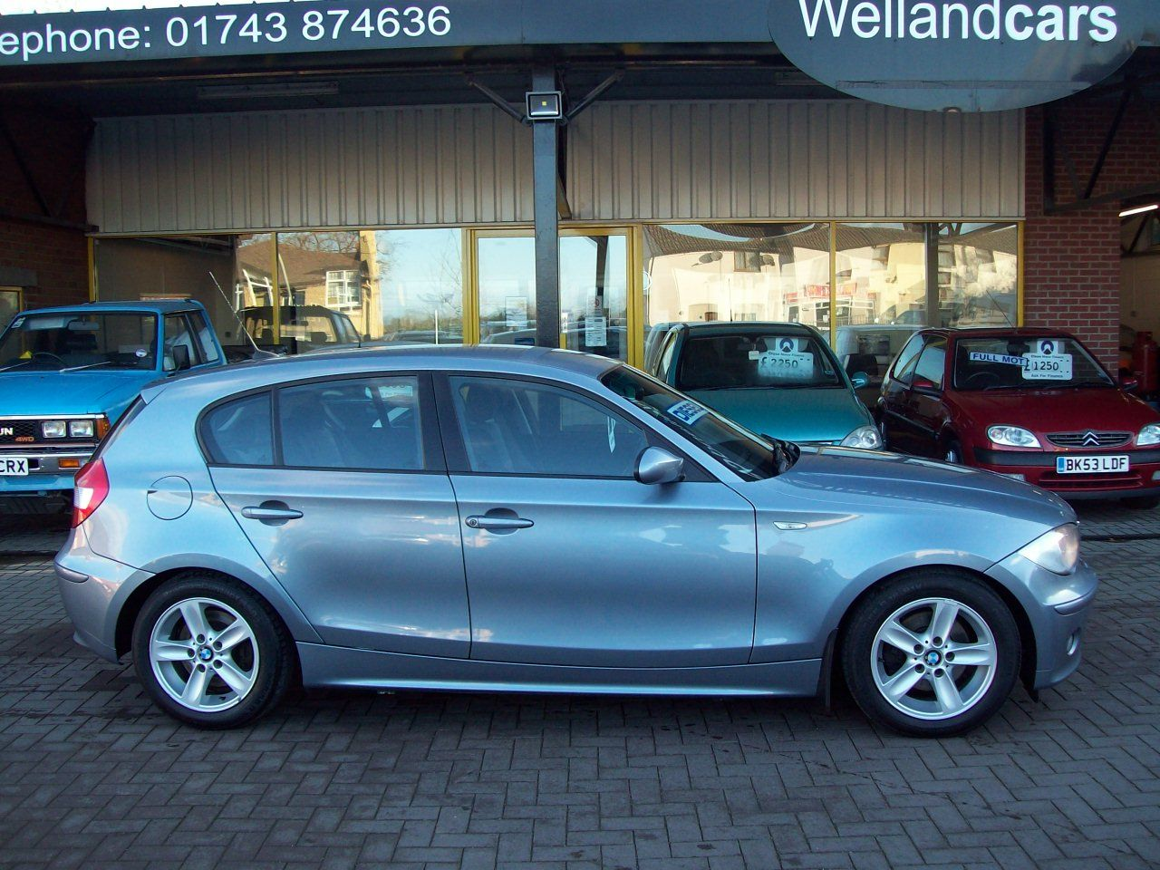 BMW 1 Series 2.0 120d Sport 5dr Diesel, F/S/H To Include 8 Stamps Hatchback Diesel Gun Metal Grey Metallic at Welland Cars Shrewsbury