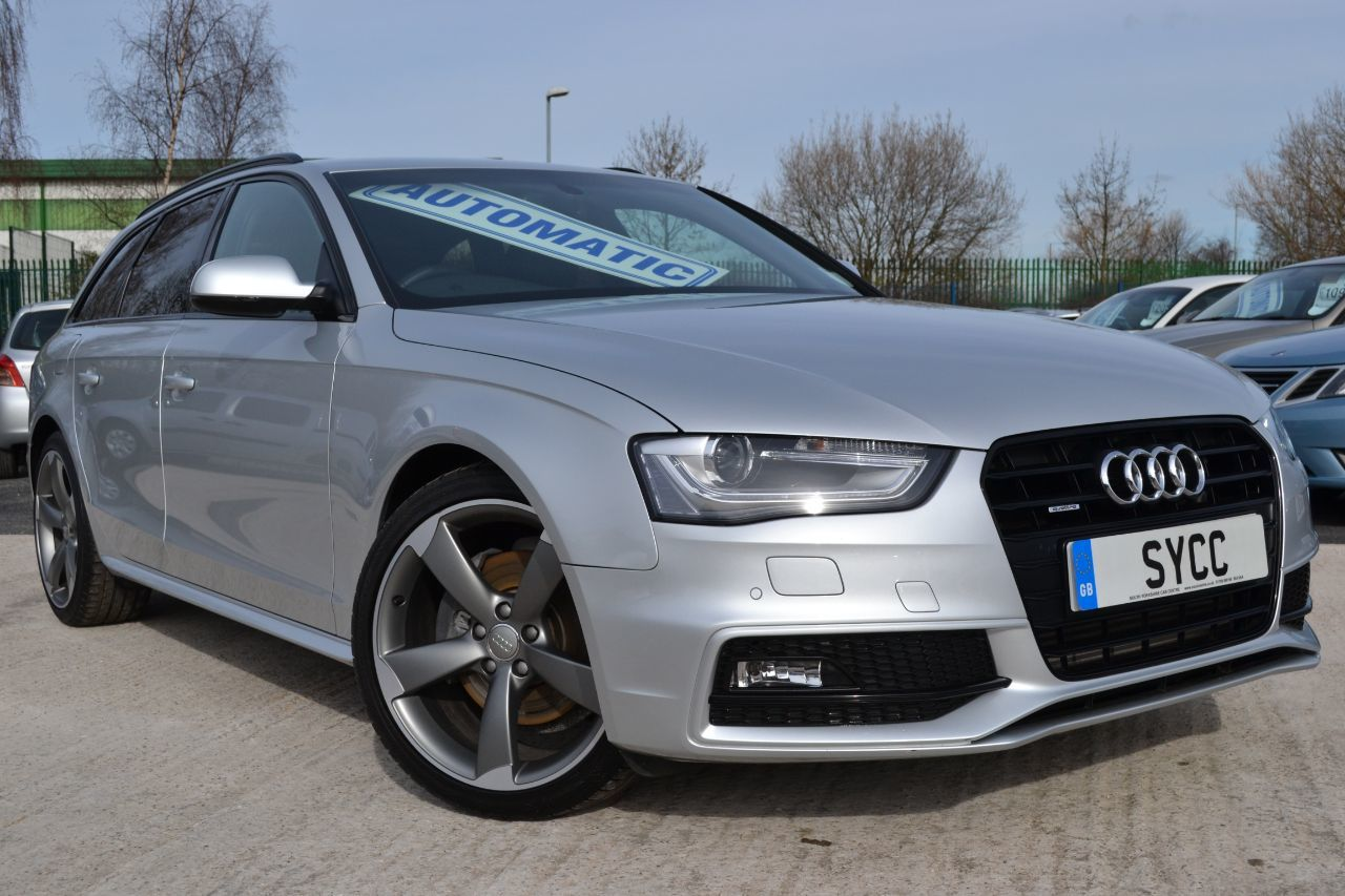 Audi A4 3.0 TDI Black Edition Plus S Tronic Quattro 5dr Estate Diesel Ice Silver