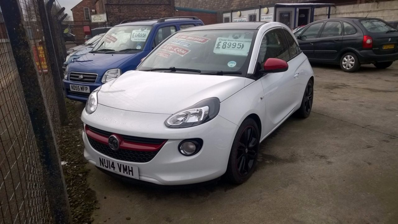 Vauxhall Adam 1.4i Glam 3dr Hatchback Petrol White at Ken Wallace Northallerton