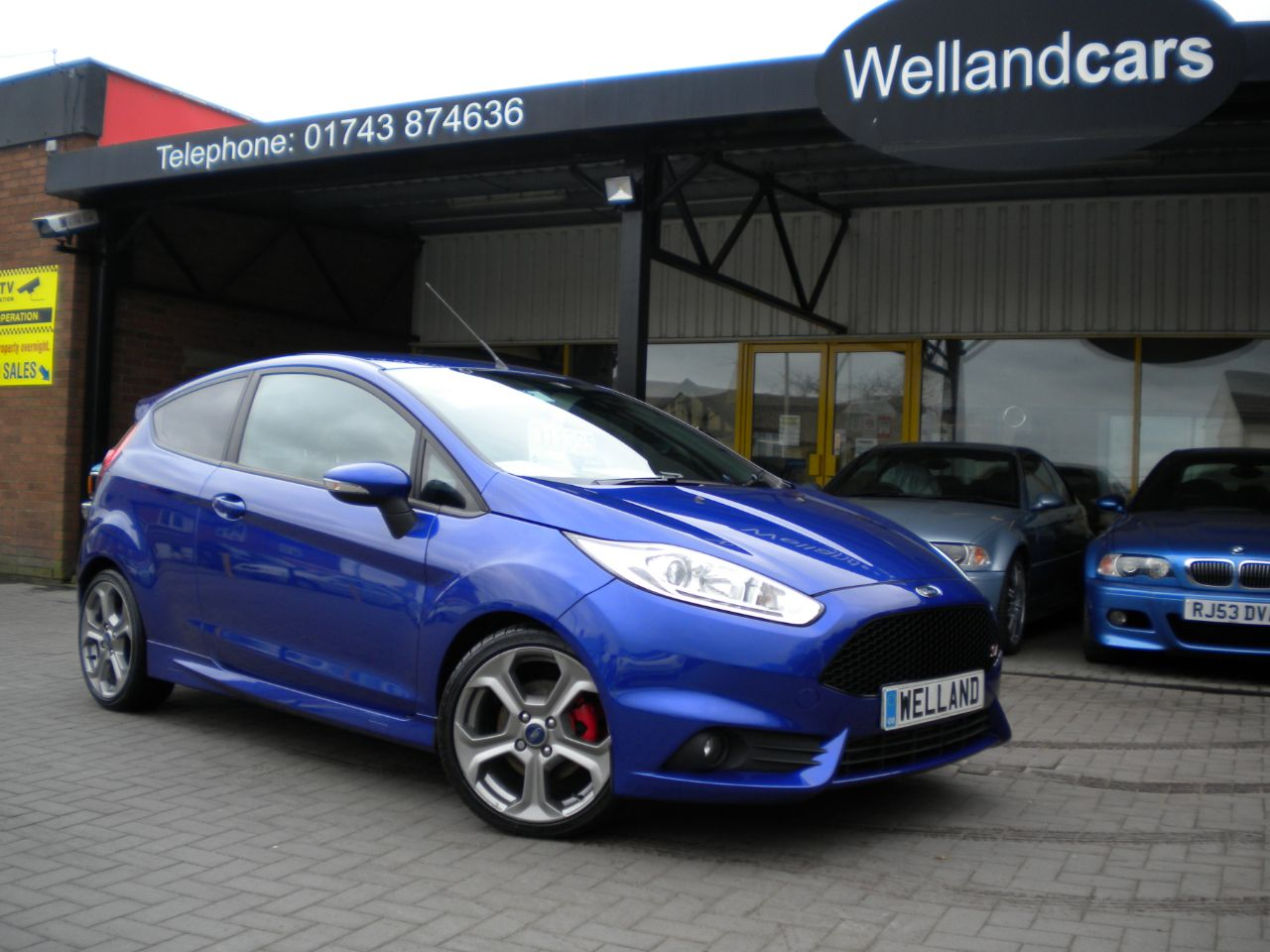 Ford Fiesta 1.6 EcoBoost ST-2 3dr F/S/H, B/Tooth, Heated Recaros #15 MONTH WARRANTY INCLUDED Hatchback Petrol Blue at Welland Cars Shrewsbury