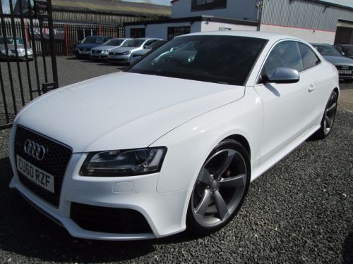 Audi RS5 4.2 FSI Quattro 2dr S Tronic + WING BACK BUCKET SEATS + FULL AUDI SERVICE HISTORY Coupe Petrol White