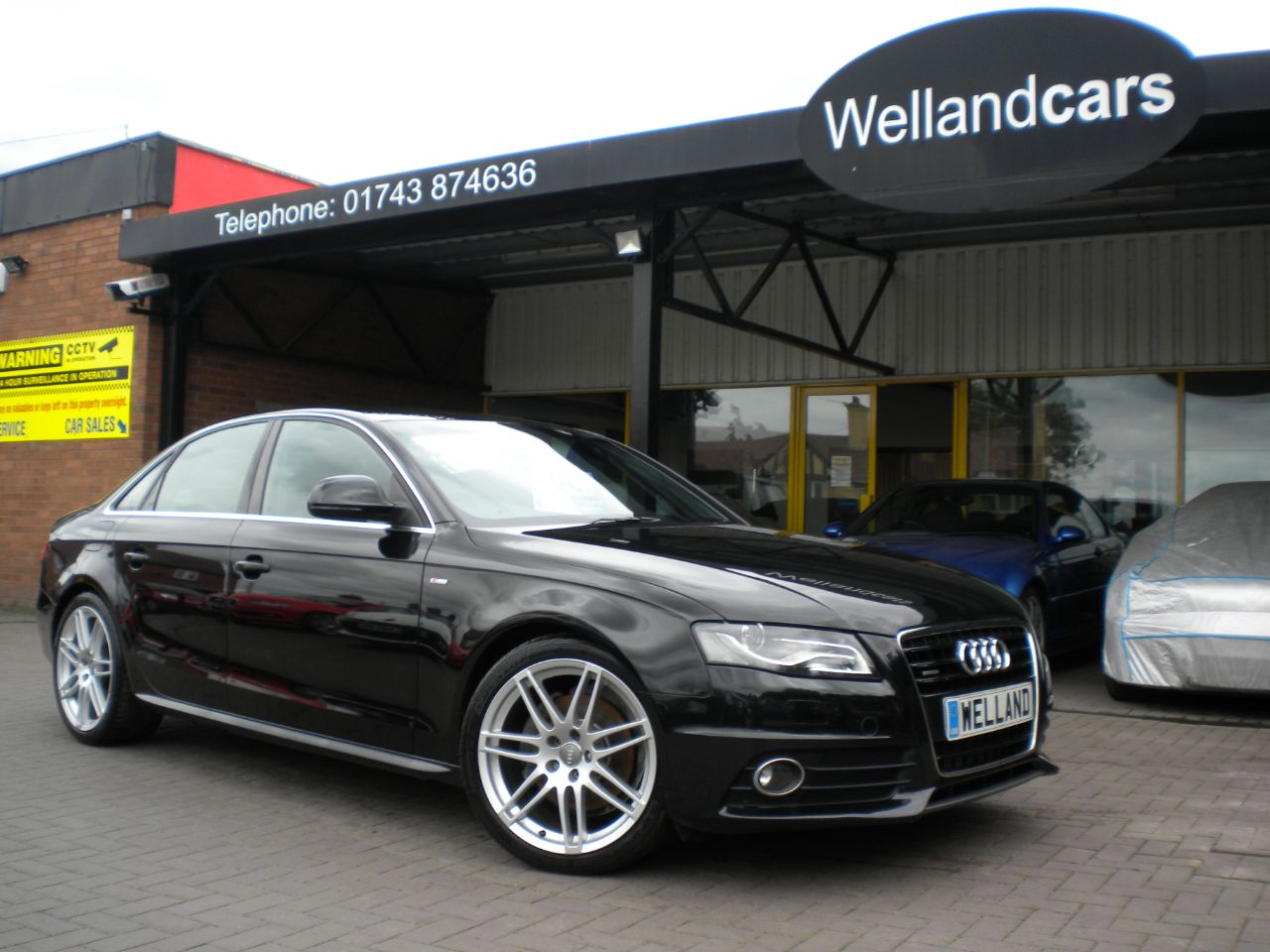 Audi A4 3.0 TDI Quattro S Line 4dr 6 Speed, F/S/H, 19`Alloys, Leather, 1 Owner # 15 MONTH WARRANTY INCLUDED Saloon Diesel Metallic Black at Welland Cars Shrewsbury