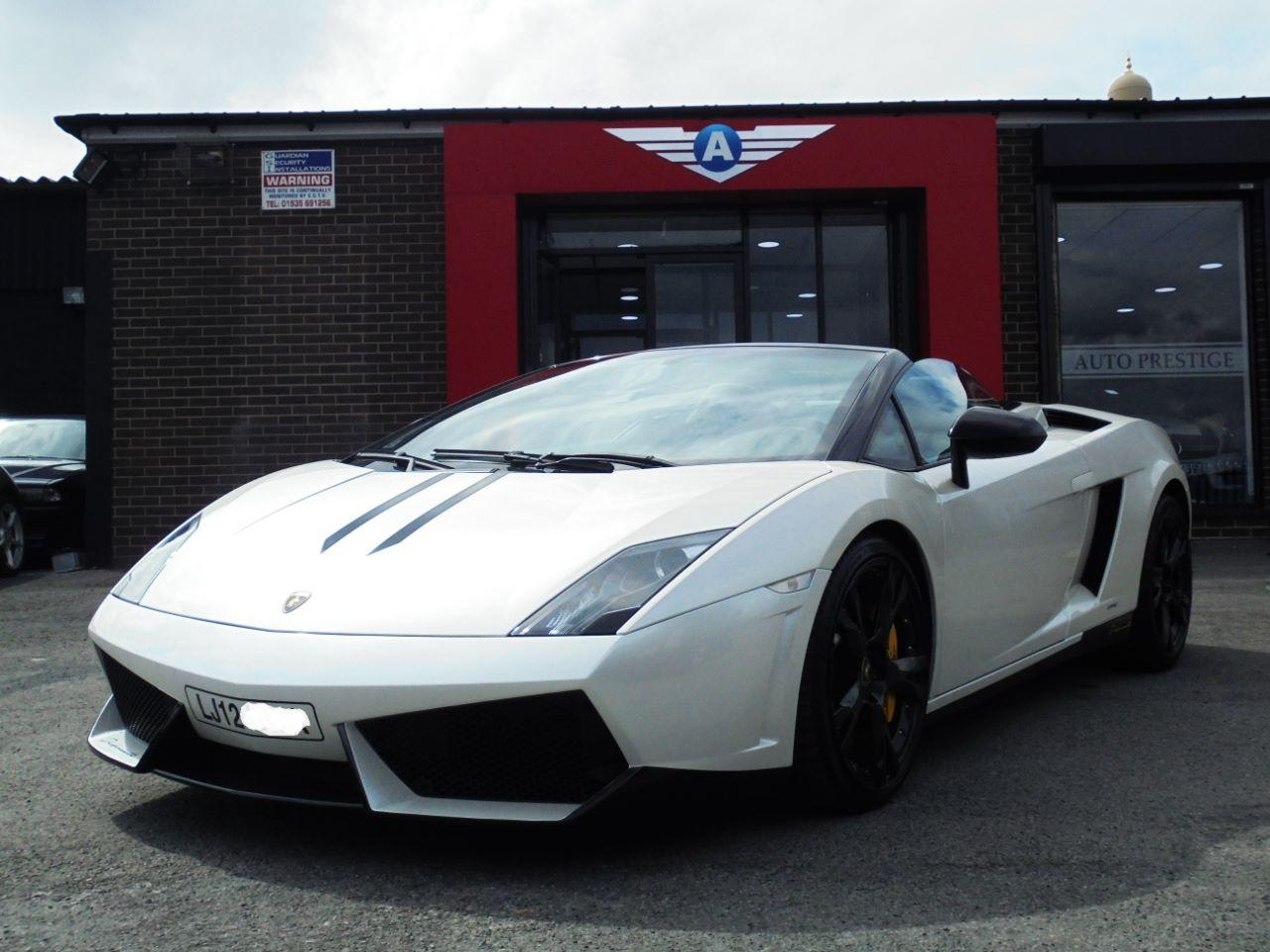 Lamborghini Gallardo 5.2 LP 560-4 SPIDER FACELIFT MODEL WITH PERFORMANTE SPECIFICATION Convertible Petrol Pearl White