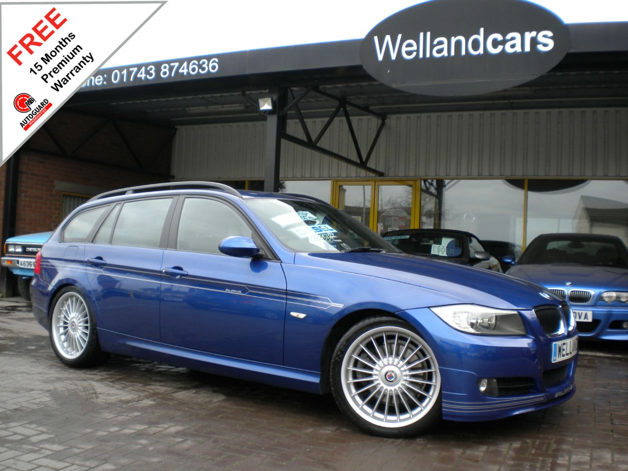 BMW Alpina 2.0 D3 Bi-Turbo Diesel Automatic Touring, F/S/H, VERY RARE OPPORTUNITY#15 MONTH WARRANTY INCLUDED Estate Diesel Le Mans Metallic Blue at Welland Cars Shrewsbury