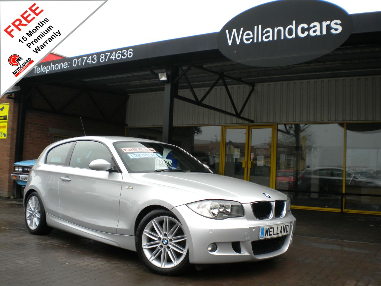 BMW 1 Series 2.0 123d Twin Turbo Diesel M Sport 3dr, F/S/H, Heated Leather,Parktronic #15 MONTH WARRANTY INCLUDED Hatchback Diesel Silver at Welland Cars Shrewsbury