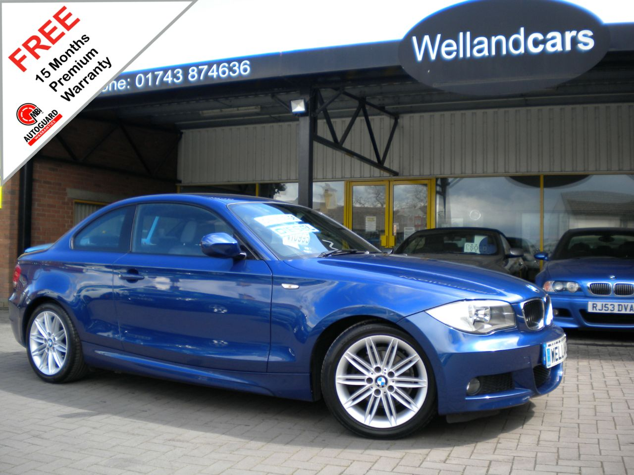 BMW 1 Series 2.0 118d M Sport 2dr, F/S/H, 1 Previous Owner, Half Leather, 18`Alloys #15 MONTH WARRANTY INCLUDED Coupe Diesel Le Mans Blue Metallic at Welland Cars Shrewsbury