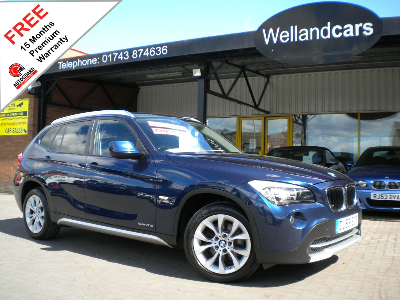 BMW X1 2.0 sDrive 20d SE 5dr,F/SH,Only,1 Previous Owner,Privacy,Parking Sensors# 15 MONTH WARRANTY INCLUDED Estate Diesel Mystic Blue Metallic at Welland Cars Shrewsbury