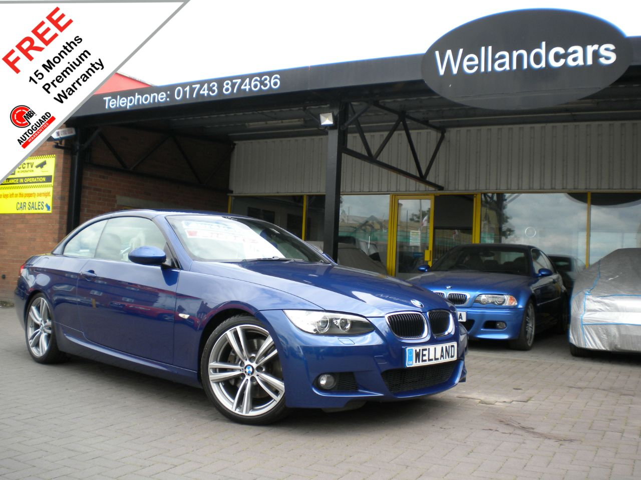 BMW 3 Series 3.0 330d M Sport 2dr Step Auto,F/S/H,New 19`Alloys/Tyres,Leather,B/tooth #15 MONTHS WARRANTY INCLUDED Convertible Diesel Le Mans Blue Metallic at Welland Cars Shrewsbury