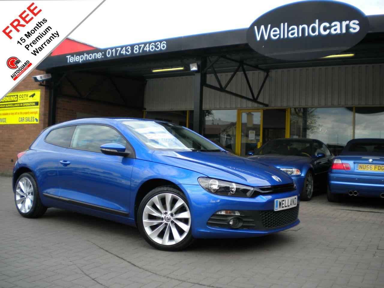 Volkswagen Scirocco 2.0 TDi BlueMotion Tech GT 3dr,Cheap Tax, 1 Owner, F/S/H - LOW MILES #15 MONTH WARRANTY INCLUDED Coupe Diesel Rising Blue Metallic at Welland Cars Shrewsbury