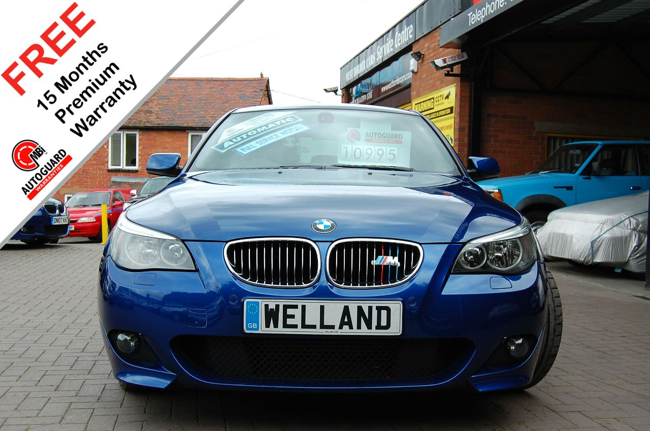 BMW 5 Series 3.0 530d M Sport 4dr Auto, F/S/H,Head up Display,Nav,Huge Spec # 15 MONTH WARRANTY INCLUDED Saloon Diesel Individual Le Mans Blue at Welland Cars Shrewsbury