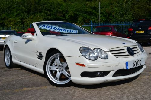 Mercedes-Benz SL Series 5.4 SL55 AMG Convertible Petrol Mystic White