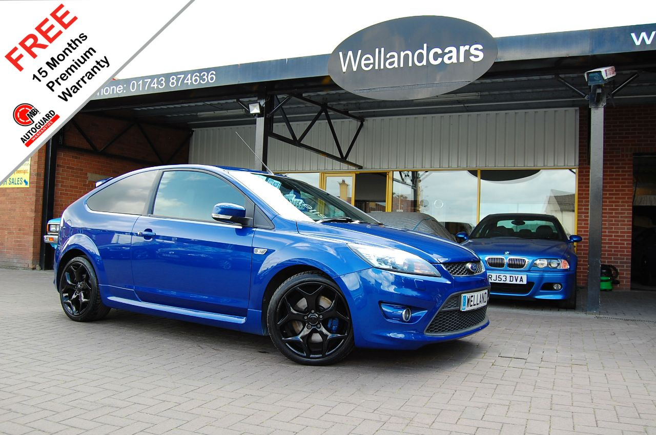 Ford Focus 2.5 ST-3 Turbo 225SIV Hatchback 3d,F/S/H,Recaro Heated Leather, Xenons #15 MONTH WARRANTY INCLUDED Hatchback Petrol Metallic Spirit Blue at Welland Cars Shrewsbury
