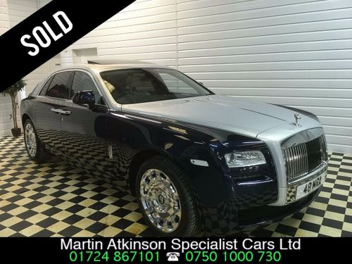 Rolls Royce Ghost 6.6 4dr Auto SOLD GOING TO ESSEX Saloon Petrol Blue / Silver