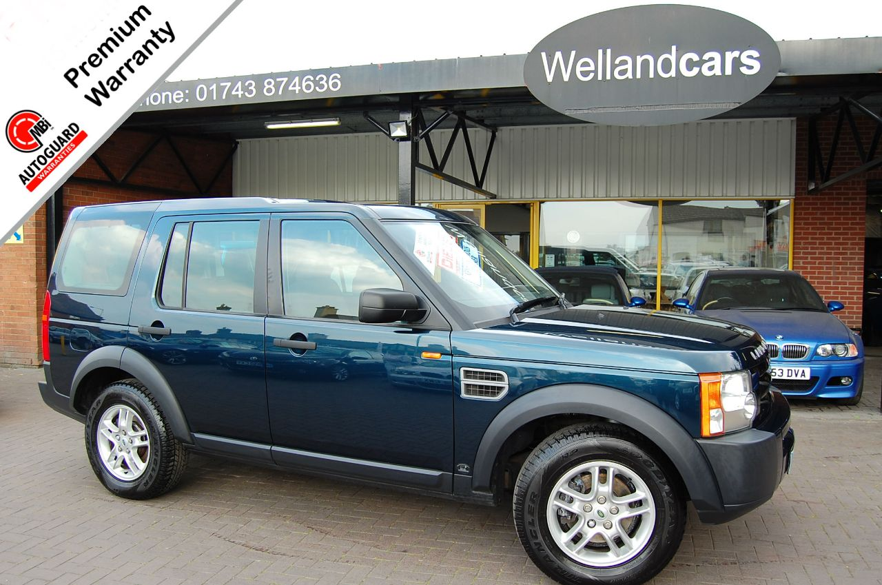 Land Rover Discovery DISCOVERY 3 2.7 TDV6 GS 7 SEAT, F/S/H, 1 PREVIOUS OWNER, TOWPACK Estate Diesel Lugano Blue Metallic at Welland Cars Shrewsbury