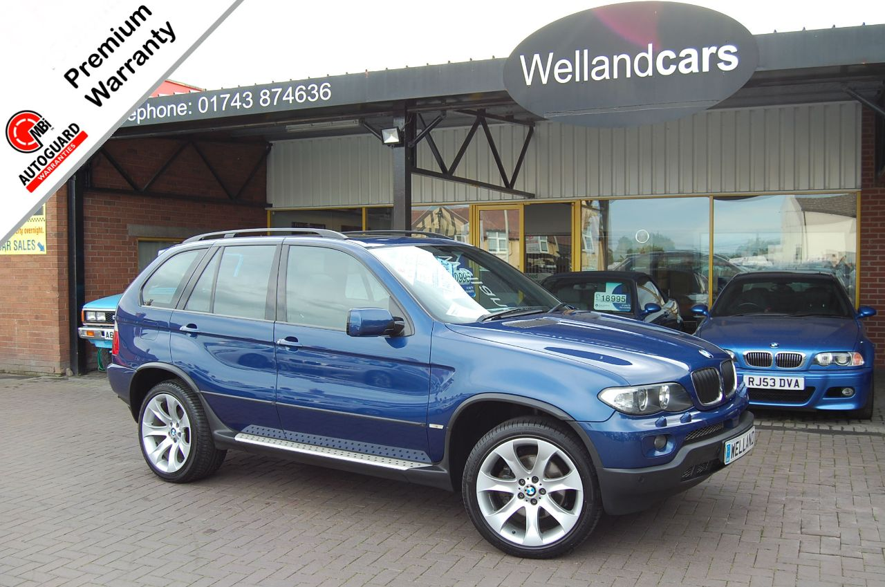 BMW X5 3.0d Le Mans Sport Premium Edition 5dr Auto Diesel, F/SH, Mem Pack,TV, Navigation, Leather,Huge Spec Estate Diesel Le Mans Blue Metallic at Welland Cars Shrewsbury