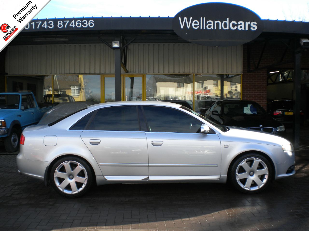 Audi S4 4.2 S4 QUATTRO AUTO/TIP, F/S/H, Red Leather,Private Plate,Lower Tax # 15 MONTH WARRANTY JUST 99 POUNDS Saloon Petrol Silver at Welland Cars Shrewsbury