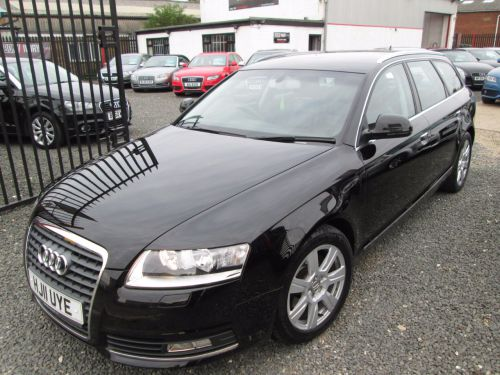 Audi A6 2.0 TDIe SE 5dr AVANT + SATNAV + BLACK LEATHER + FULL SERVICE HISTORY Estate Diesel Black