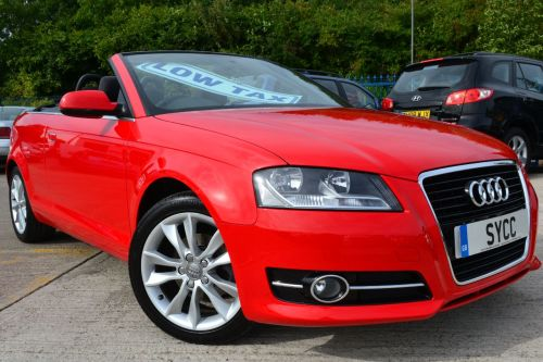 Audi A3 1.6 TDI Sport 2dr Convertible Diesel Brilliant Red