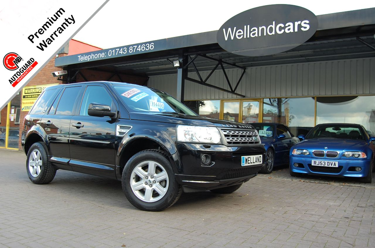 Land Rover Freelander 2 GS 2.2 TD4 5dr F/S/H, Low Miles, 2 Previous owners, Bluetooth, Cruise, Estate Diesel Panther Black Metallic at Welland Cars Shrewsbury