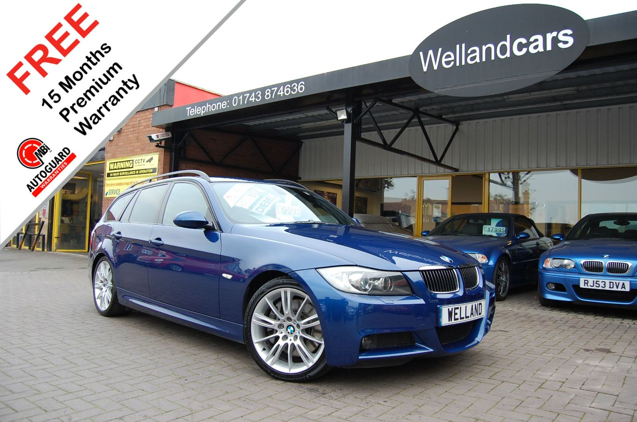 BMW 3 Series 3.0 335d Bi-Turbo M Sport 5dr Auto/Paddle Shift, F/S/H, 1 Owner # 15 MONTHS WARRANTY INCLUDED # Estate Diesel Le Mans Blue Metallic at Welland Cars Shrewsbury