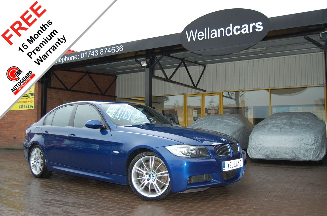 BMW 3 Series 3.0 335d BiTurbo M Sport 4dr Diesel Auto,F/BMW/SH,Nav,Leather,B/Tooth # 15 MONTH WARRANTY INCLUDED Saloon Diesel Le-Mans Blue Metallic at Welland Cars Shrewsbury