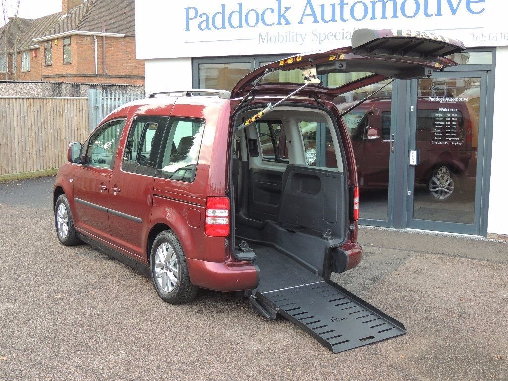 Volkswagen Caddy Life 1.6 TDI Life DSG Sirus Drive From Wheelchair Wheelchair Adapted Diesel Red Mica